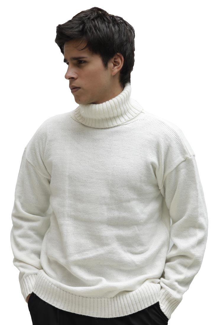 Mens Soft Alpaca Wool Knitted Turtleneck Solid Sweater Ebay