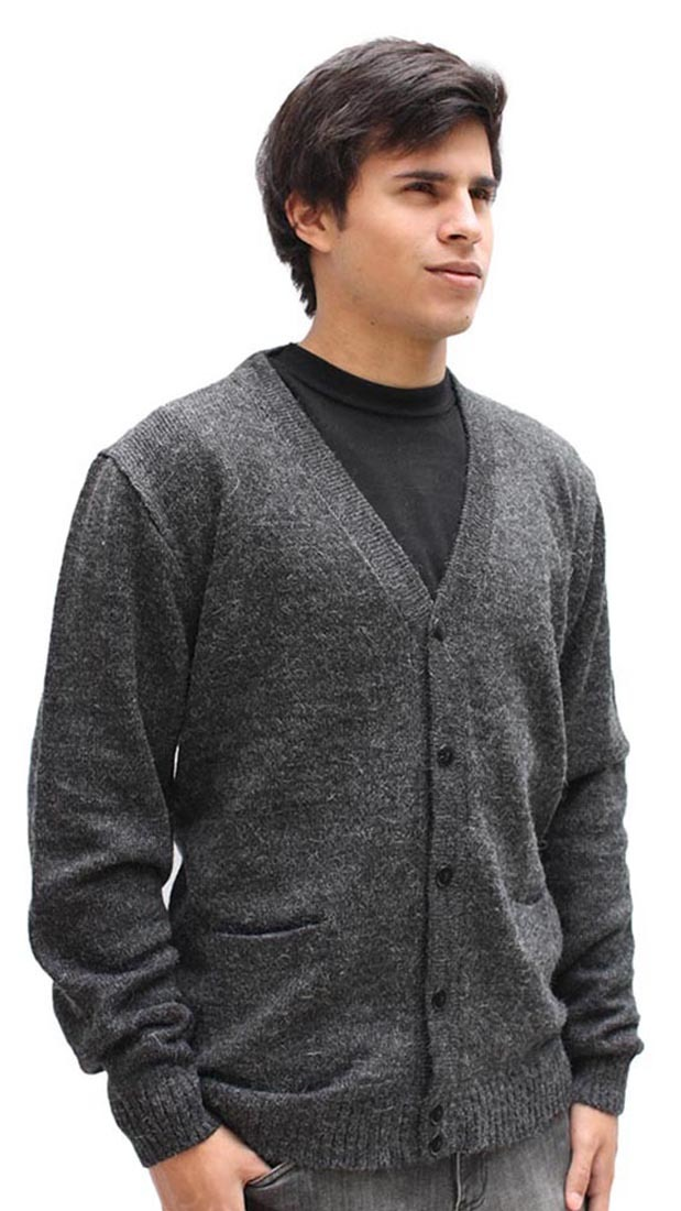 22328f05 Mens Alpaca Wool Golf Cardigan Sweater V-Neck Button Down Coat | eBay