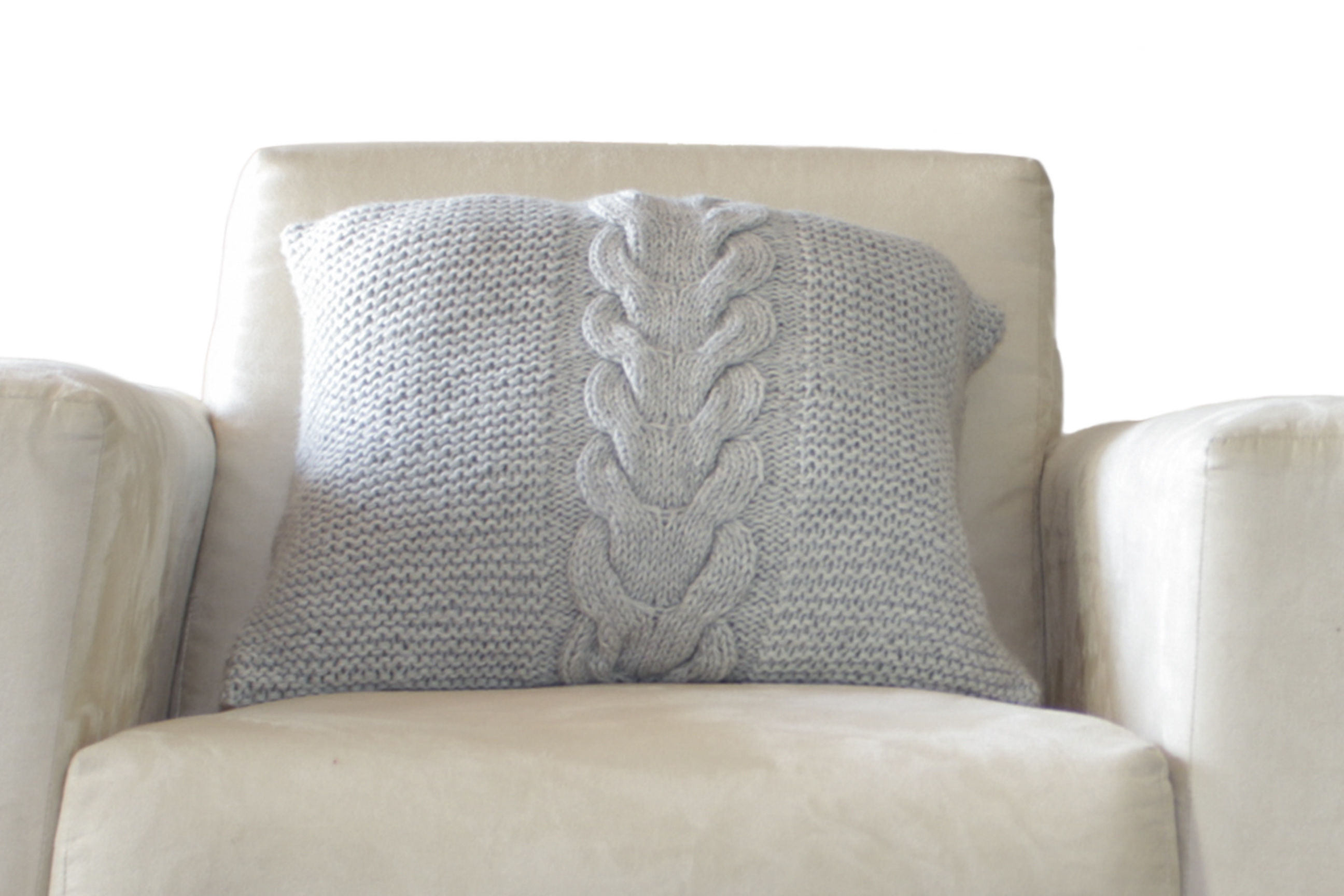 Hand Knitted Superfine Alpaca Wool Decorative Cable Throw