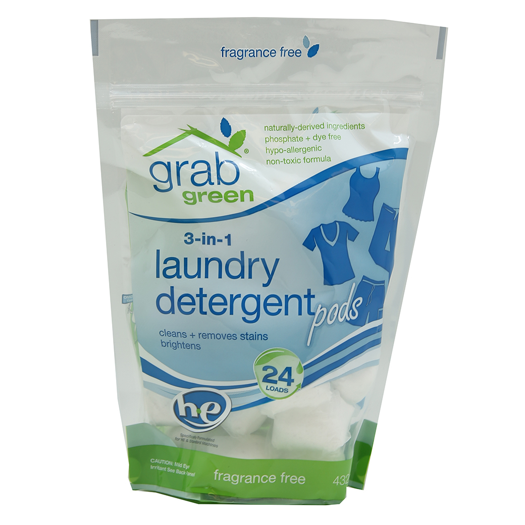 6 Pack Grab Green Natural 3 In 1 Detergent Pods Multi