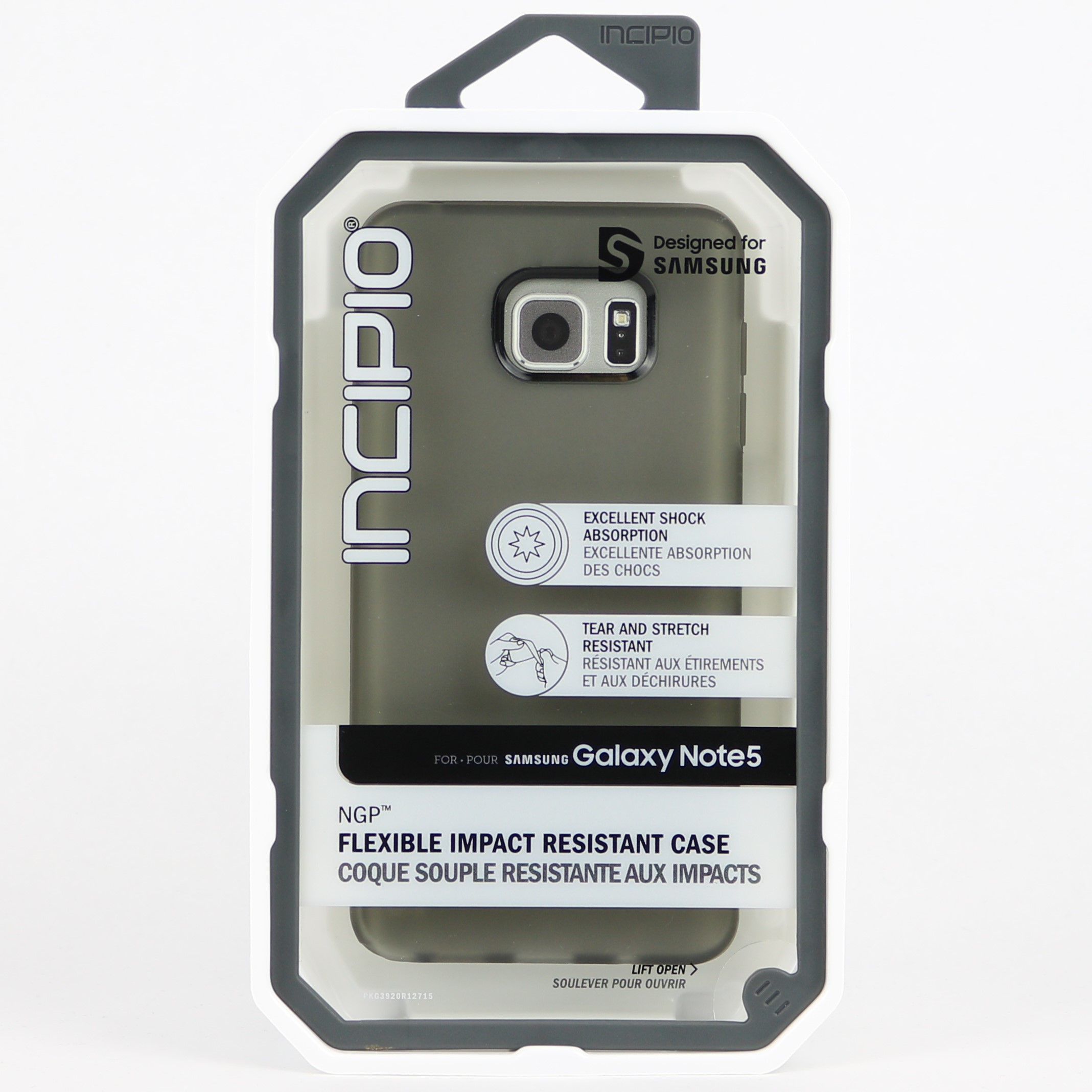 new concept d461c c0a86 Details about New Incipio NGP Flexible Impact Resistant Case for Samsung  Galaxy Note 5 Frost