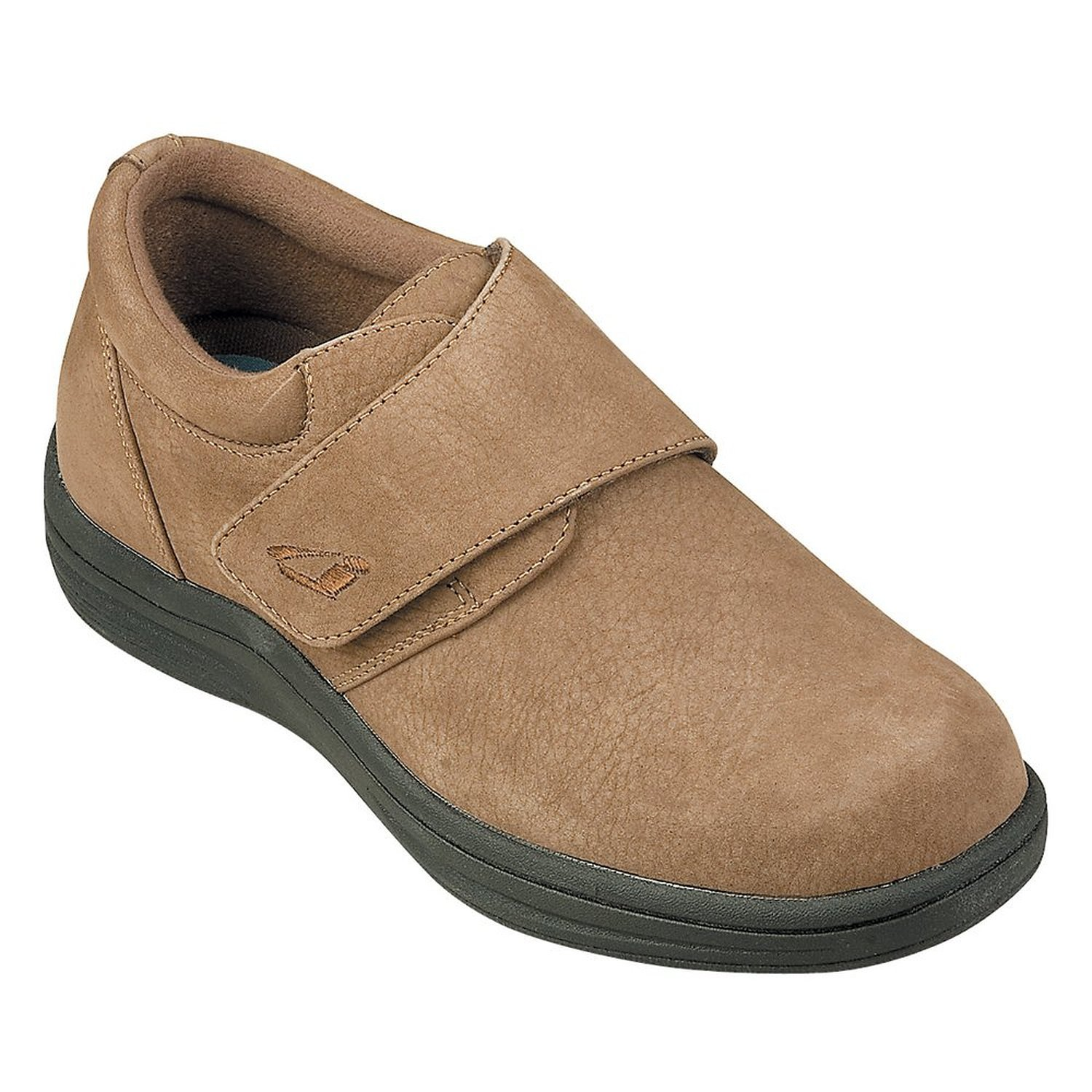Details about InStride VENICE Womens Brown Nubuck Leather Strap Diabetic  Casual Comfort Shoes