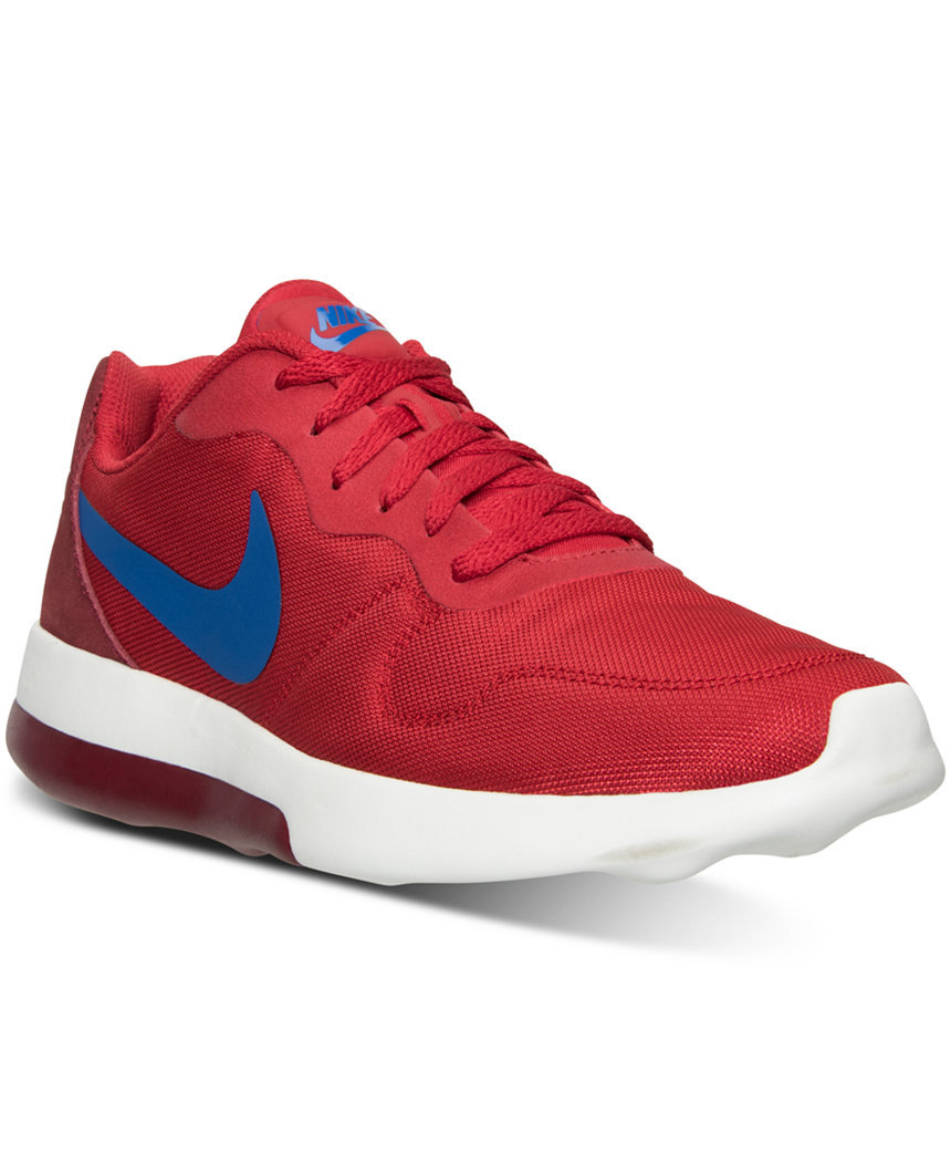9ac21a2ff258 Nike MD RUNNER 2 LW Men s Red Blue Retro Running Comfort Sneakers ...