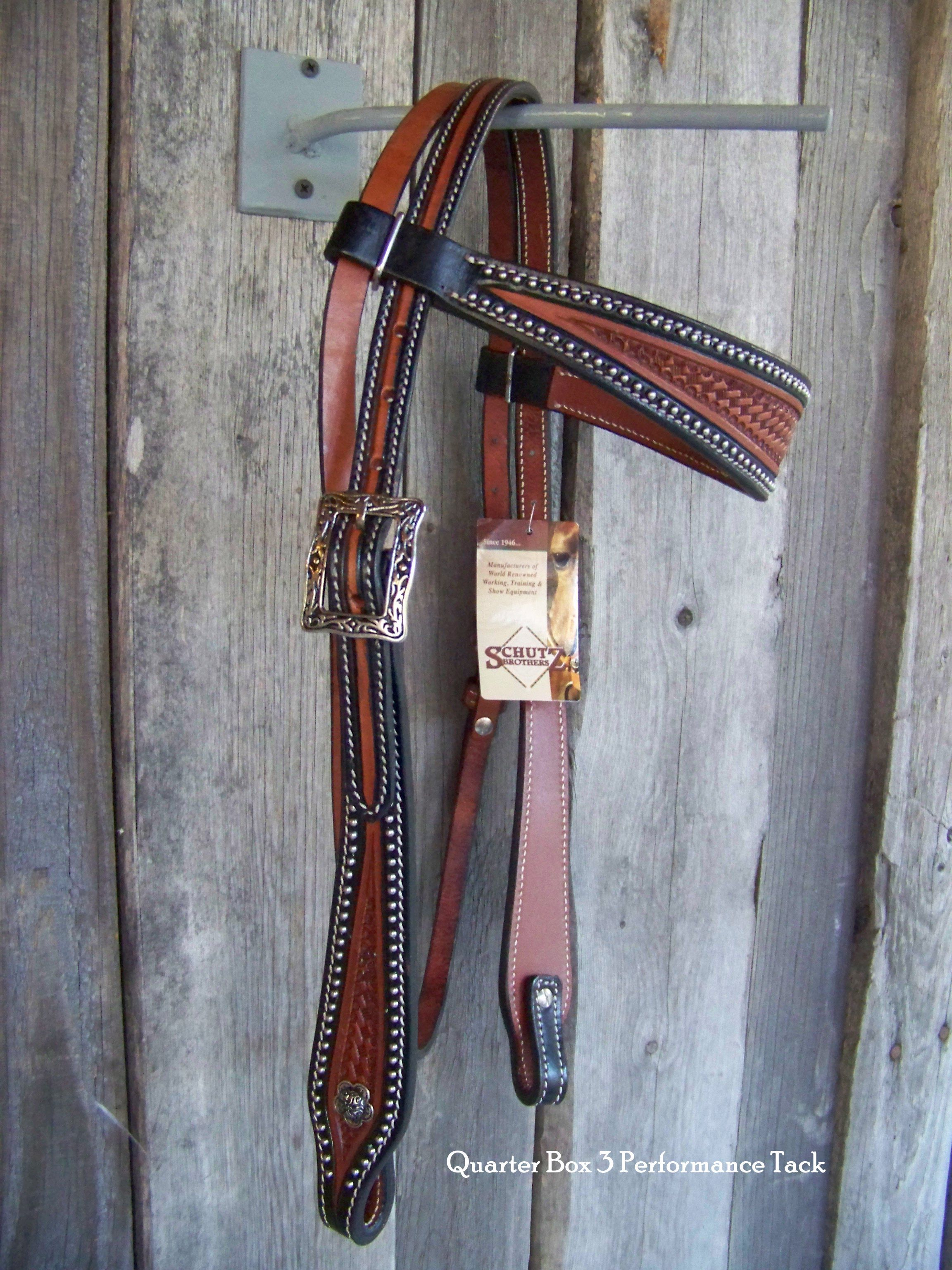 Headstall - Two-Tone Browband w JW