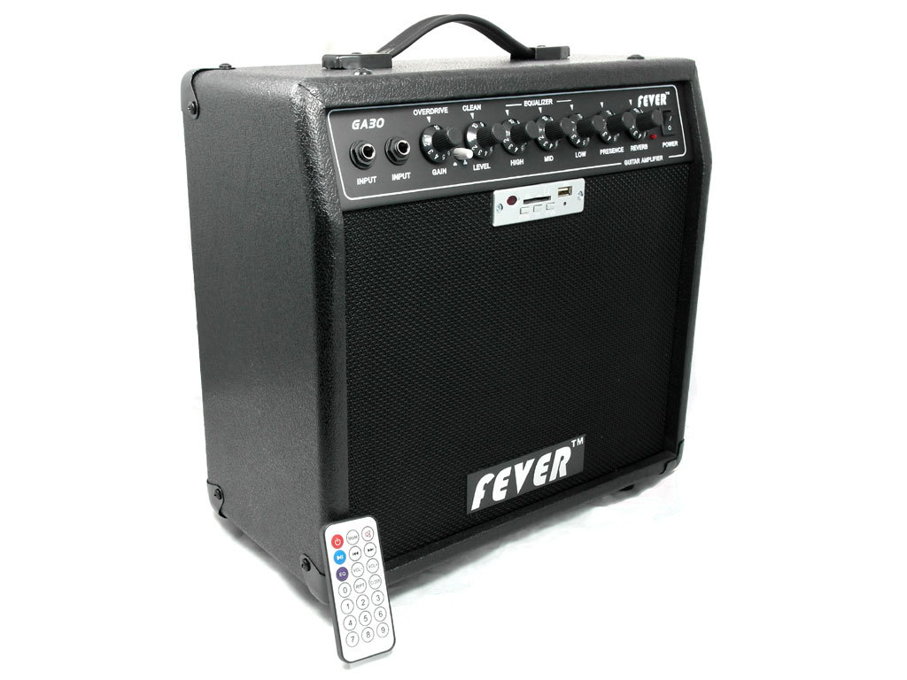 fever 30 watts guitar combo amplifier with usb sd interface remote control ebay. Black Bedroom Furniture Sets. Home Design Ideas