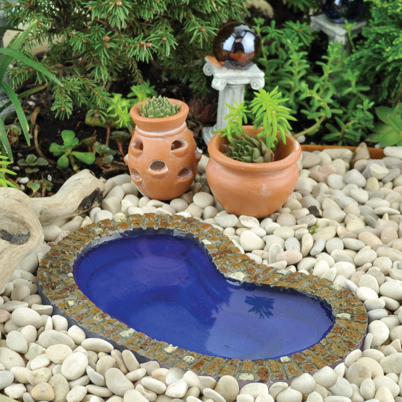 My fairy gardens mini garden pond small supplies for Outdoor pond supplies