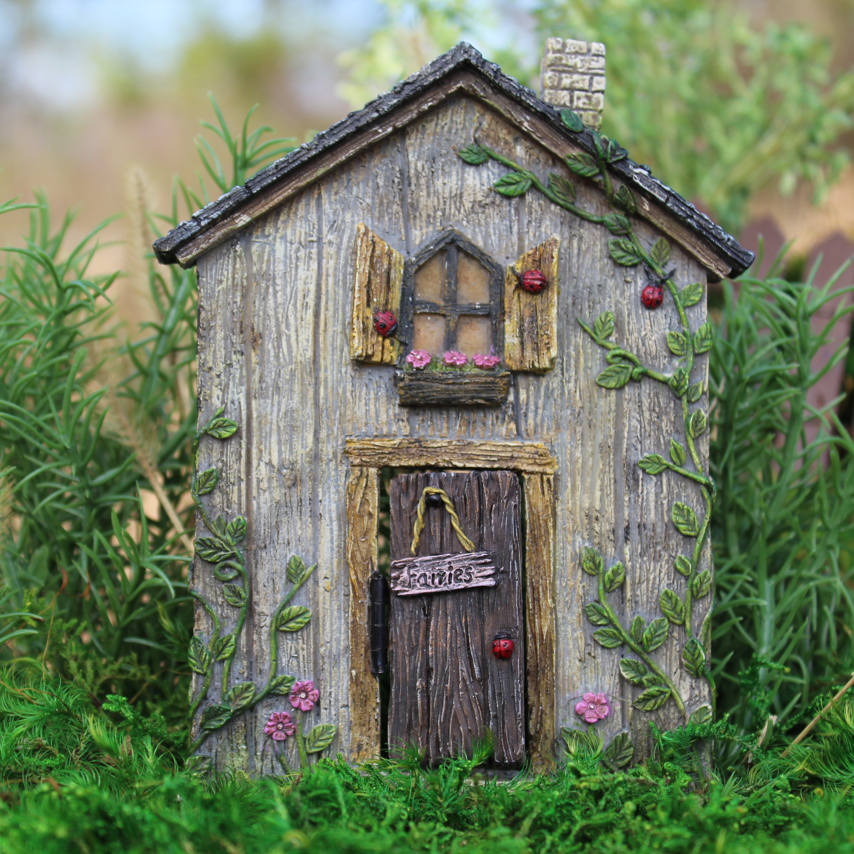 My fairy gardens mini ladybug fairy door supplies for Mini fairy door