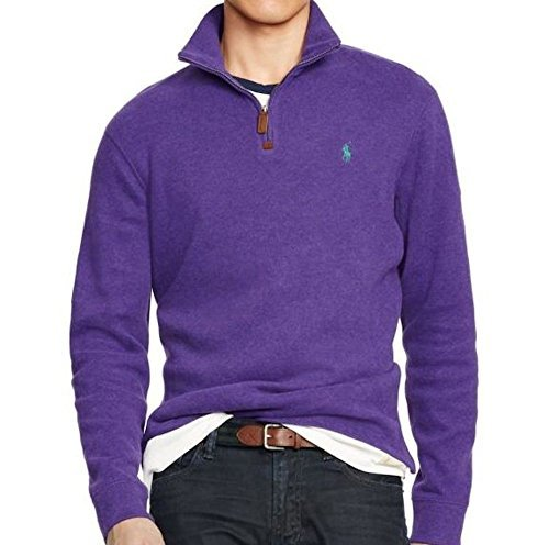 NWT Polo Ralph Lauren Men's French Rib Half Zip Pullover MSRP $98.50,  AUTHENTIC; Picture 2 of 2