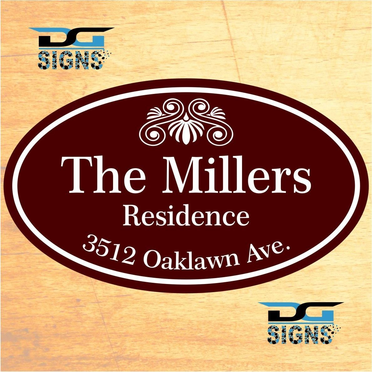 Decorative Signs For Your Home: 3011 Personalized Home Address Decorative Custom Plaque 12