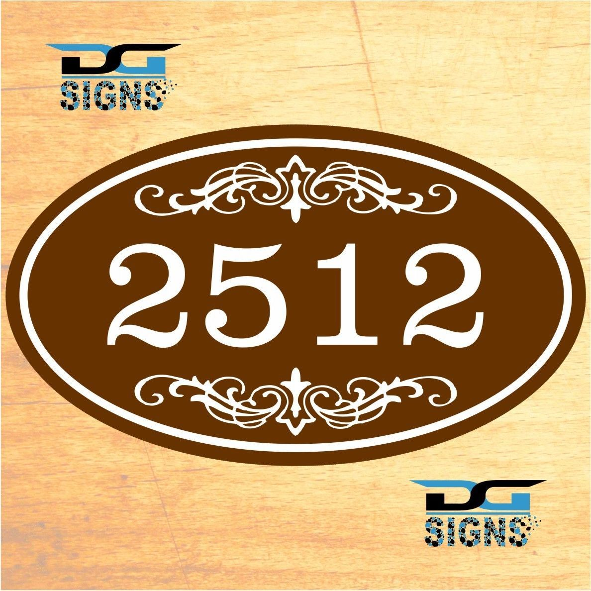 Decorative Signs For Your Home: 3008 Personalized Home Address Decorative Custom Plaque 12