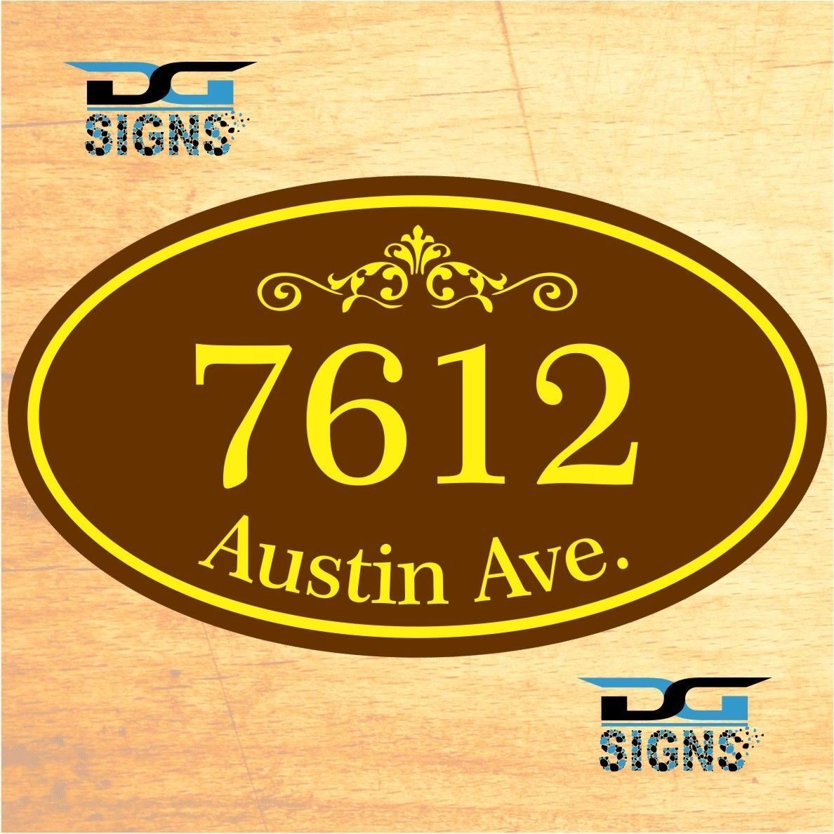 Decorative Signs For Your Home: 3002 Personalized Home Address Decorative Custom Plaque 12