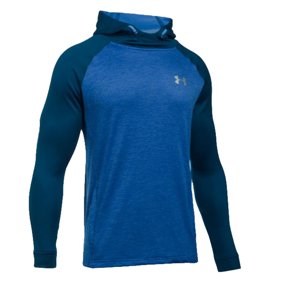 sweater pullover popover armour under hooded terry athletic tech mens