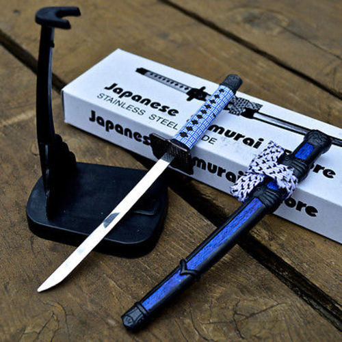 8 stainless steel japanese samurai sword letter opener. Black Bedroom Furniture Sets. Home Design Ideas