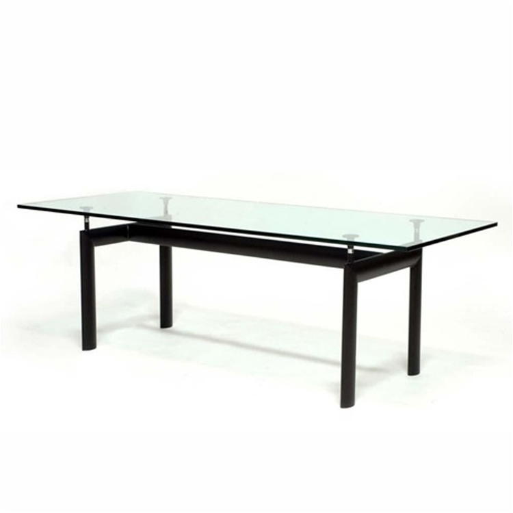 Modern Glass Dining Room Tables: Modern Glass Top Square Dining Table Clear