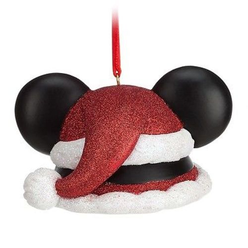 disney parks christmas santa mickey mouse ear hat ornament new with tag picture 2 of 3 - Mickey Mouse Ornaments Christmas