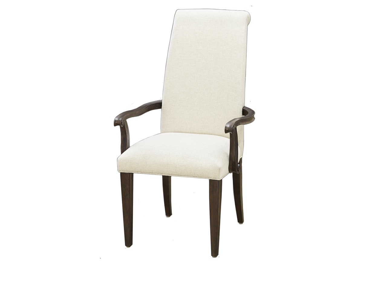 upholstered dining room arm chairs | Pair of 2 Upholstered Dining Arm Chairs