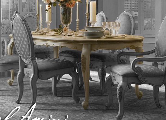 Antiqued Buttermilk Baroque Oval Dining Table Ebay