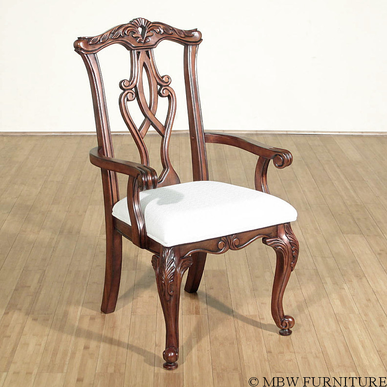 Chippendale Mahogany Dining Room Chairs: Mahogany Chippendale Dining Arm Chair