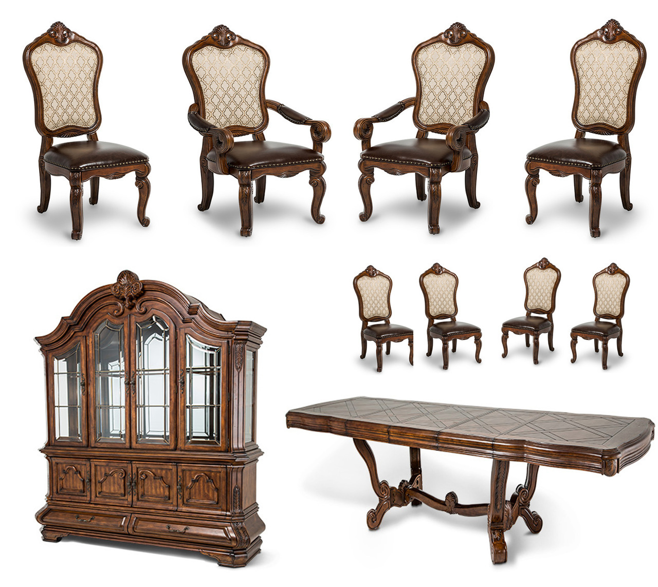 Traditional Dining Room Set: 10-pc Tuscano Melange Traditional Dining Room Set