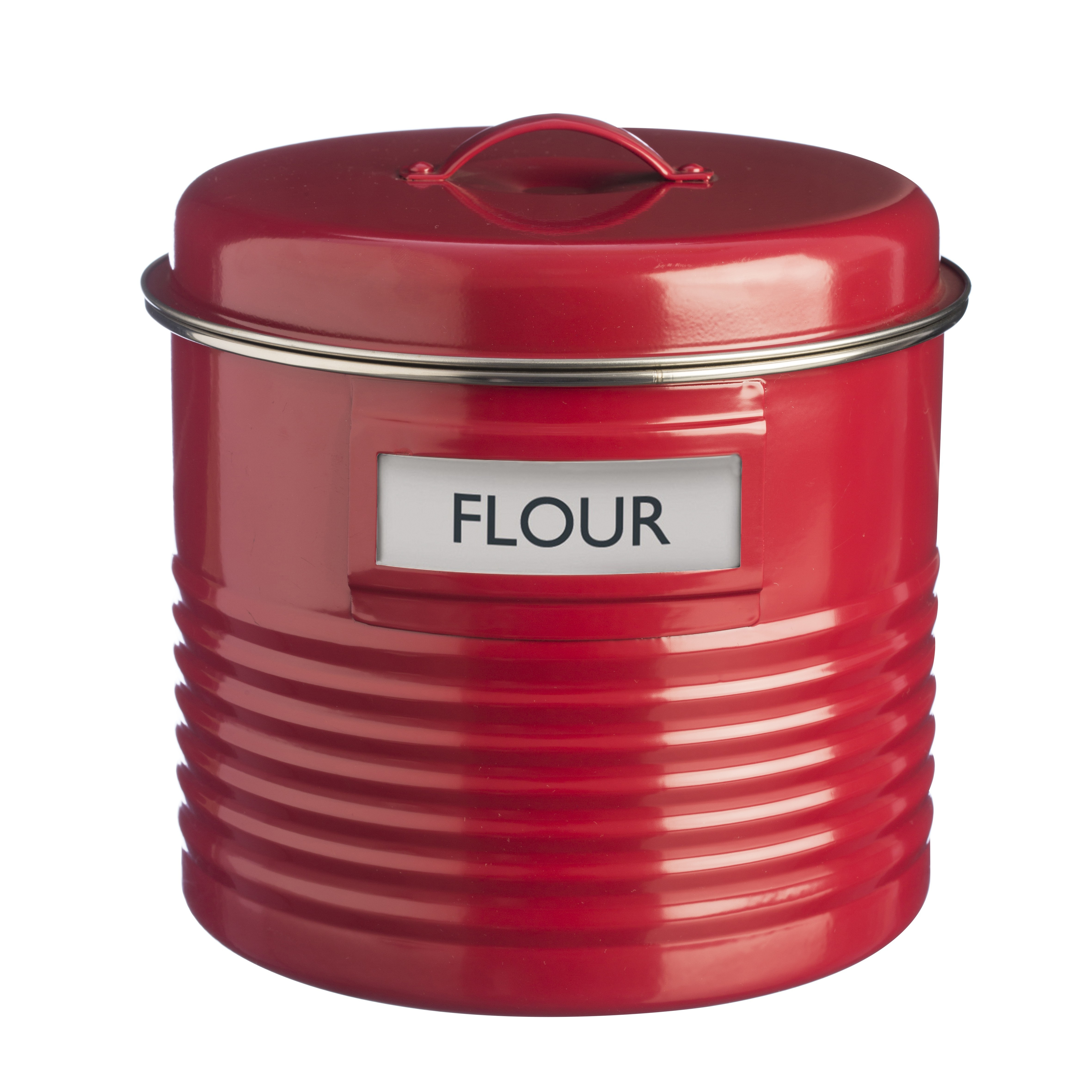 large kitchen canisters typhoon vintage inspired large metal kitchen flour canister red retro farmhouse ebay 2746