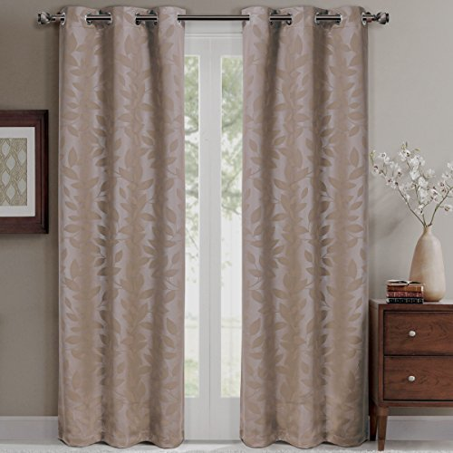 Virginia Grommet Blackout Weave Embossed Curtains 37x84