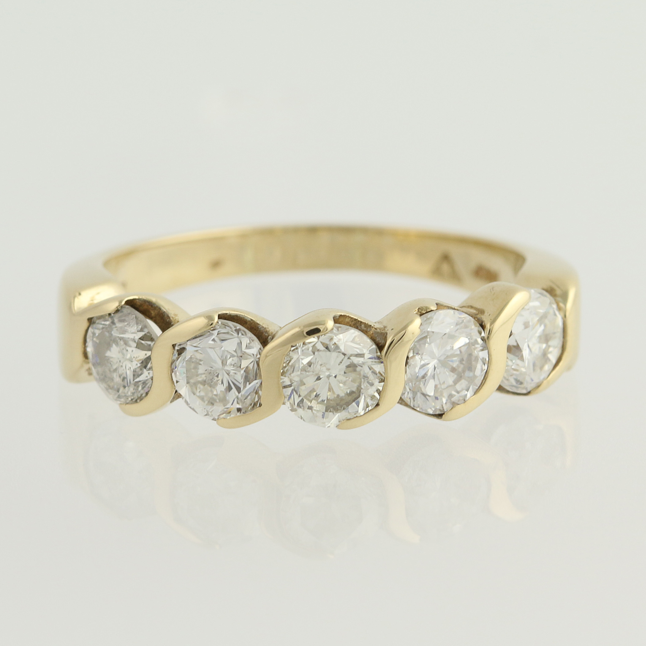 Five Stone Diamond Ring Ebay