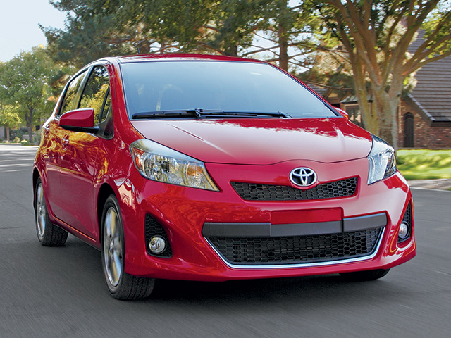 2014 Yaris 5 -Door in Absolutely Red