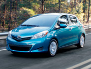 2014 Yaris 5-Door LE in Lagoon Blue