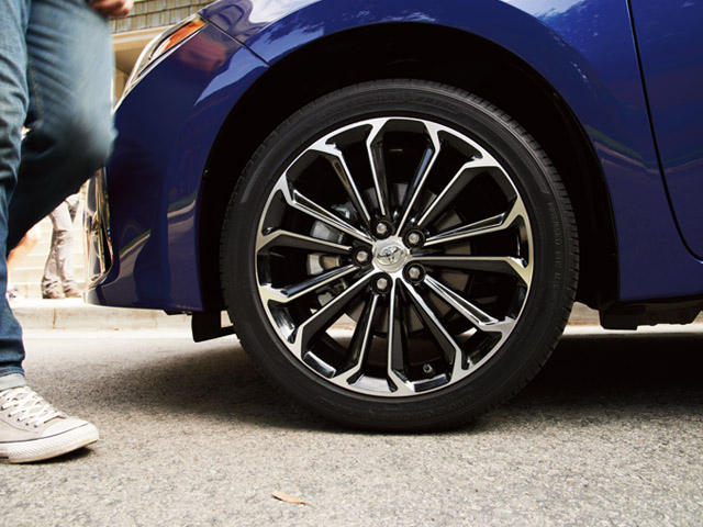 2014 Corolla S Plus 17-in wheel.