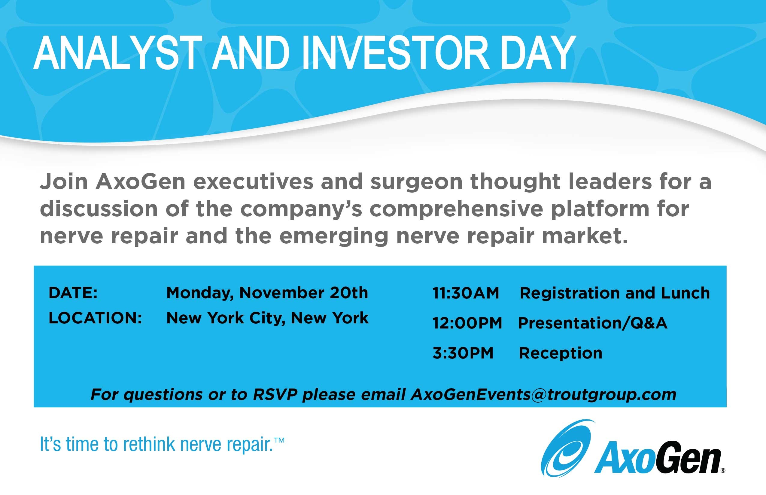 Analyst and Investor Day