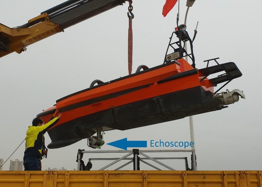 ASV with Echoscope mounted on bottom