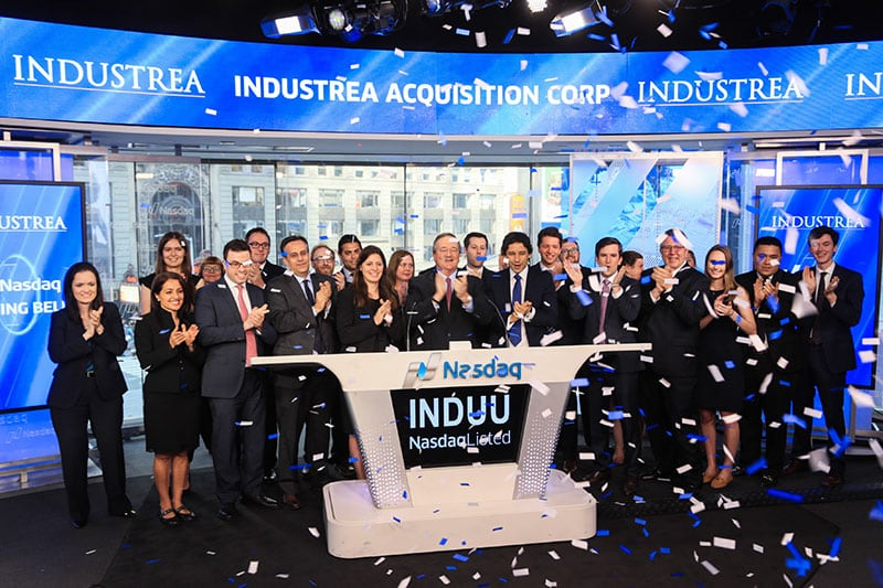 Industrea team at NASDAQ
