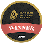 Badge showing MediPharm Labs Corp. winner of the Canadian Cannabis Start-Up of the Year in 2018