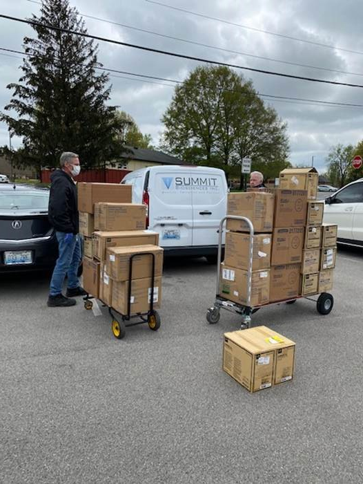 Summit personnel arrives at Lexington PPE delivery location!