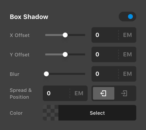 New Toggle Functionality