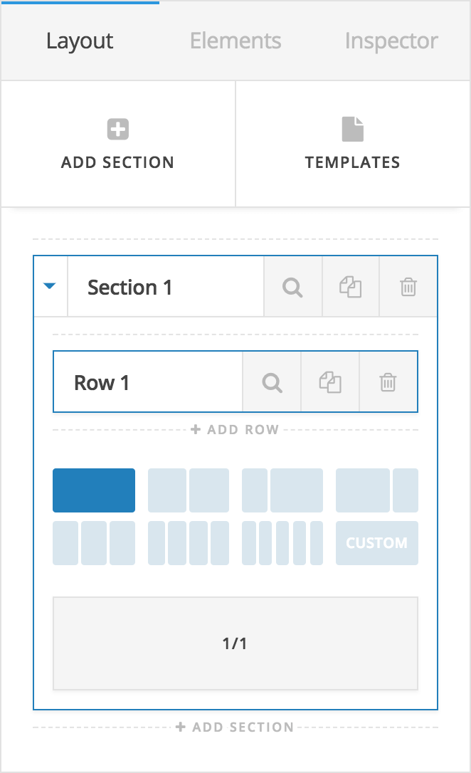 Content Builder Layout