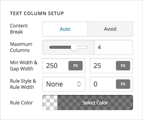 Text Element Controls