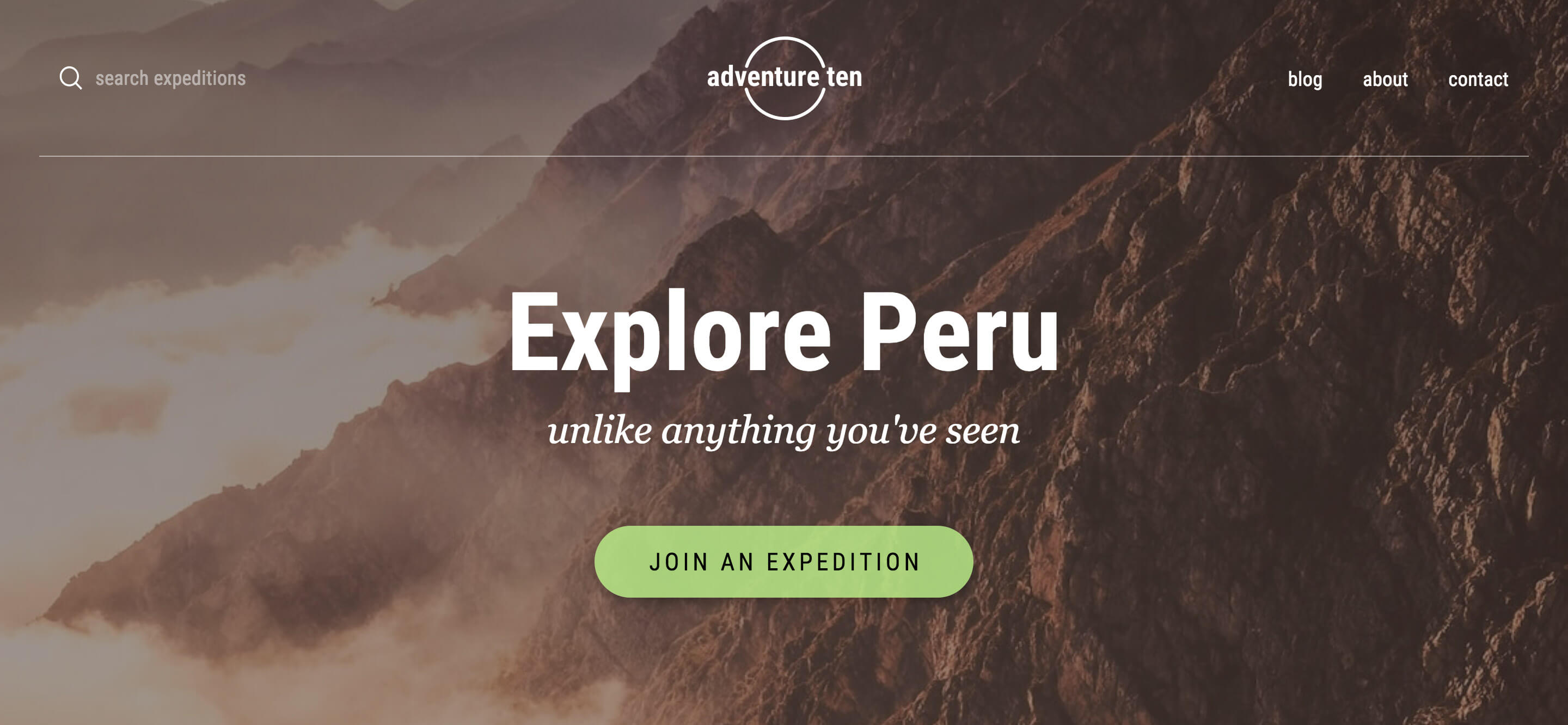 Adventure Ten, one of many new Header Templates available to users
