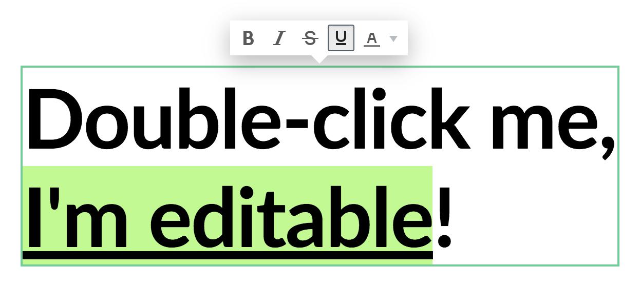 Inline Editing