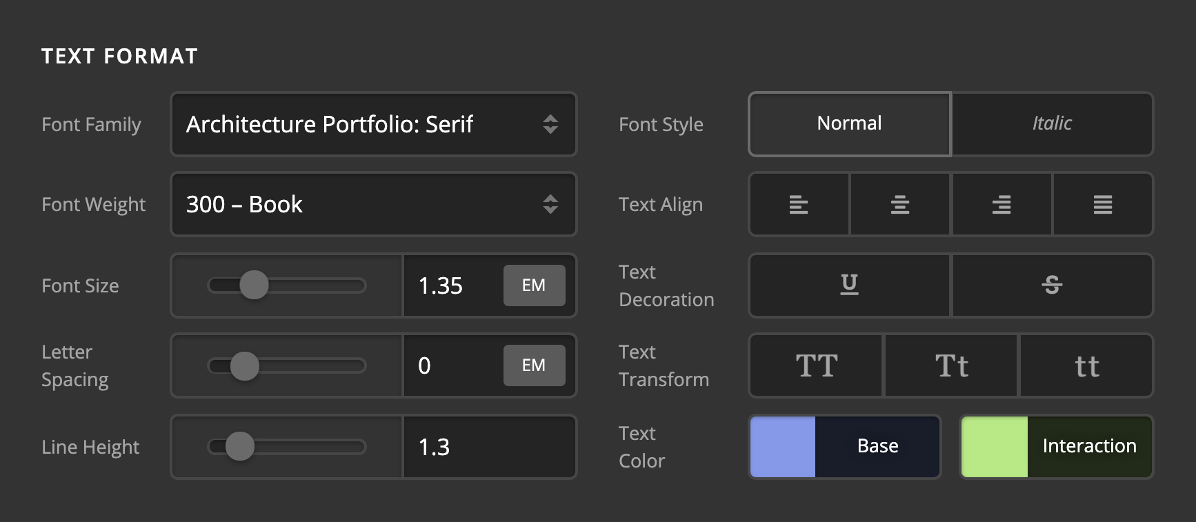Control Layout Update