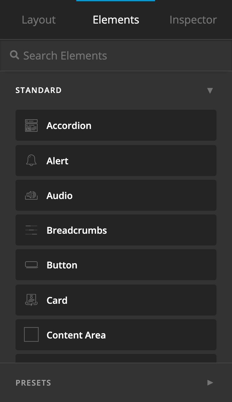 Updated Elements Pane