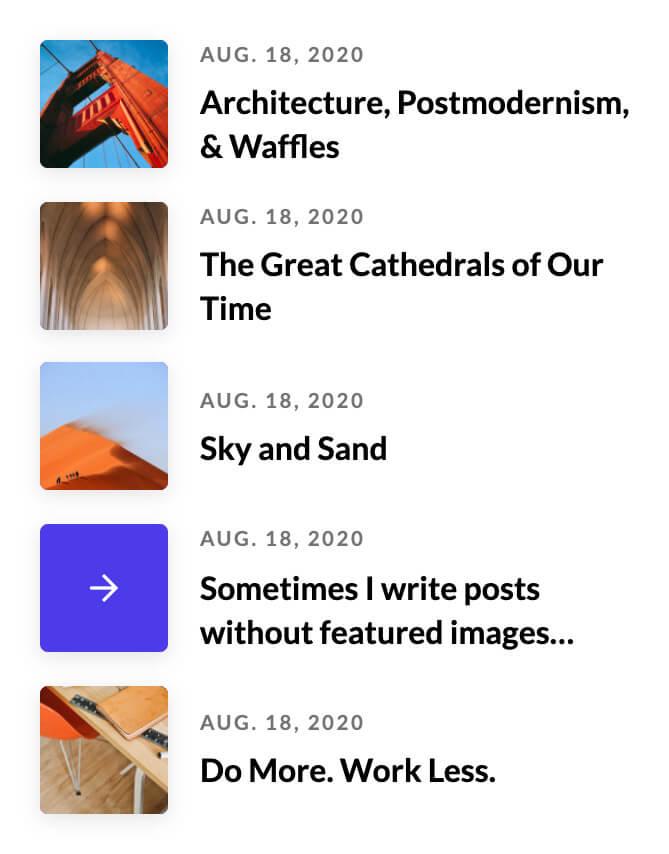 Posts Element