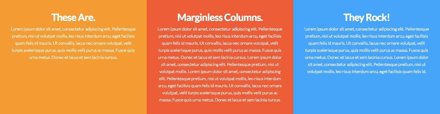 Marginless Columns