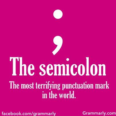 All About the Semicolon
