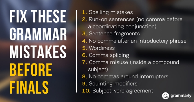 Mistake in writing essay