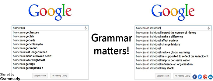 Why good grammar matters—