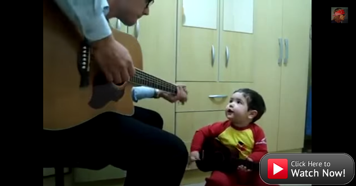 "#TooCuteTuesday: Smart, talented two-year-old sings ""Don't Let Me Down"" with dad"