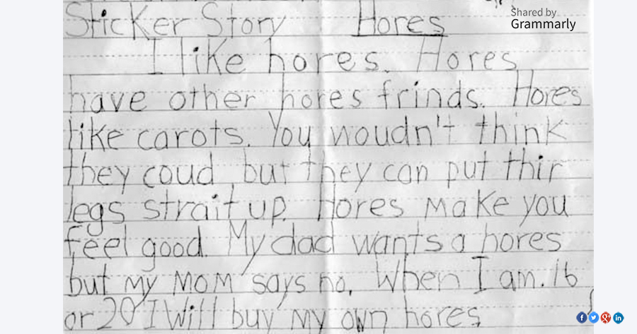 5 Funniest Grammar/Spelling Mistakes in Kids' Letters | Grammarly Blog