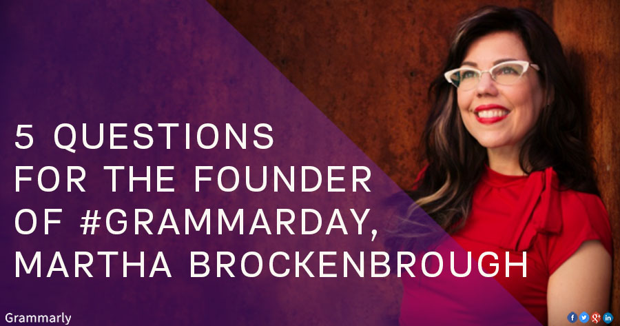 Q&A with Martha Brockenbrough, Founder of National Grammar Day