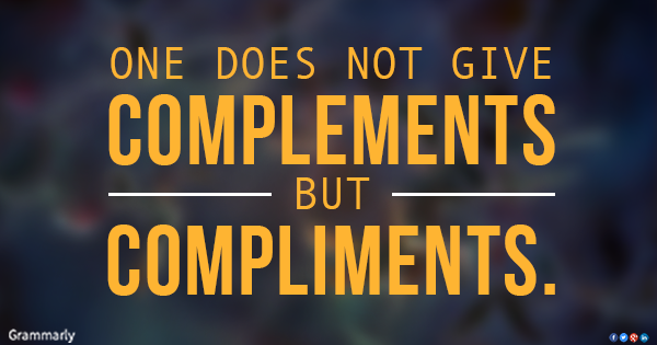 Learn the difference between compliment and complement once and for all!